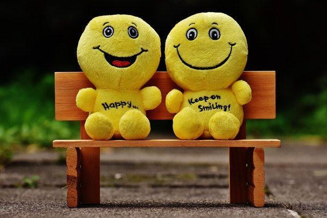 Blijven lachen is goed als je niet lekker in je vel zit.